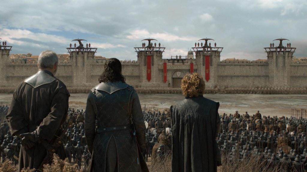 Jon Snow y Tyrion Lannister a las puertas de King's Landing. Foto de HBO / EW