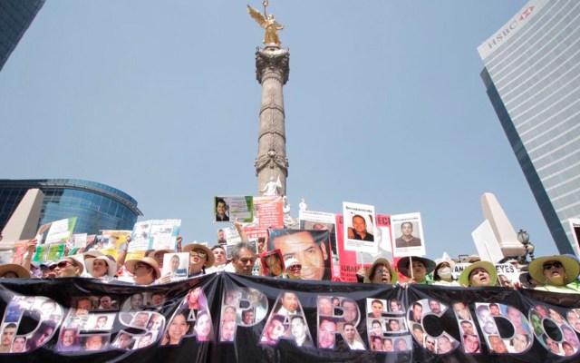 Exigen justicia madres de desaparecidos en el Ángel de la Independencia - Foto de @movNDmx