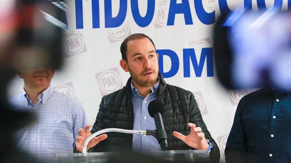 PAN exige a AMLO trabajar por la seguridad y economía - Marko Cortés. Foto de @PartidoAccionNacional