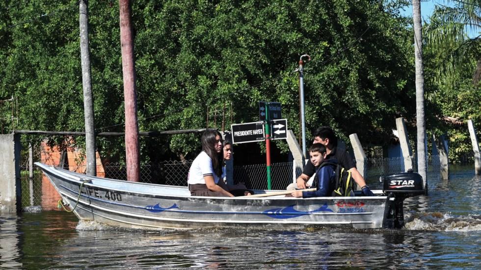 Inundaciones dejan 62 mil familias afectadas y seis muertos en Paraguay - Foto de AFP