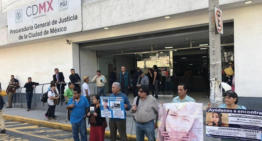 Exigen justicia por caso Aideé Mendoza afuera de la PGJ - protesta PGJ