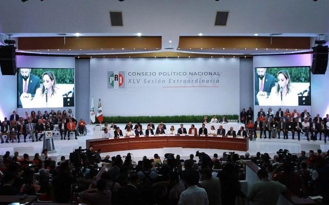 PRI declina que el INE organice su proceso de renovación de dirigencia - Sesión del Consejo Político Nacional del PRI. Foto de Notimex