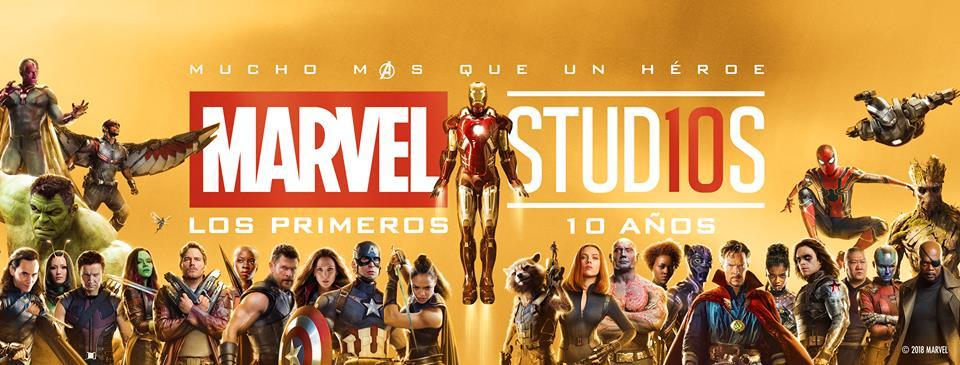 Primeros 10 años de Marvel Studios. Foto de @MarvelLatinoamerica