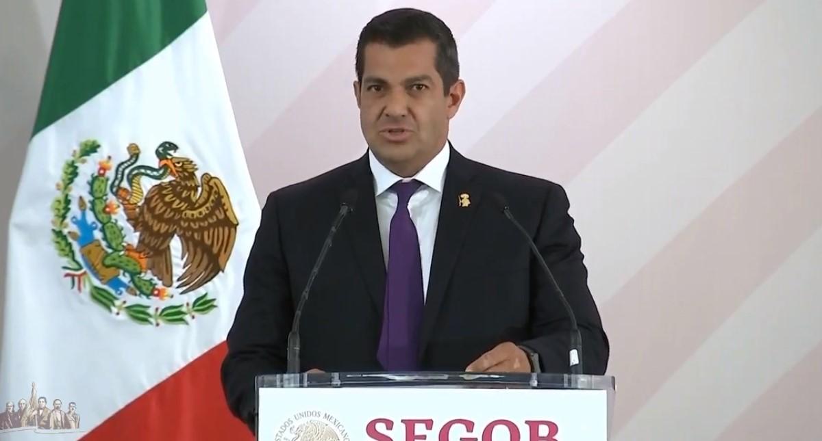 Ricardo Peralta en su toma de protesta como subsecretario de Gobernación. Captura de pantalla
