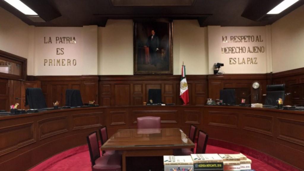 AMLO justificará su sueldo tras invalidación a Ley de Remuneraciones - Salón de Sesiones del Tribunal Pleno de la SCJN. Captura de pantalla / @SCJNMexico