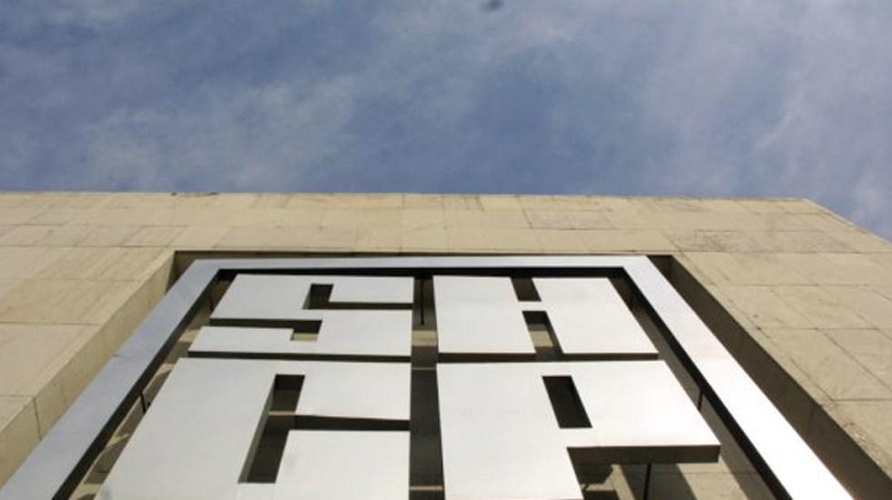 Hacienda rechaza acusaciones de abogados estadounidenses que denunciaron interferencia en juicios tributarios - Vista del logo de la Secretaría de Hacienda