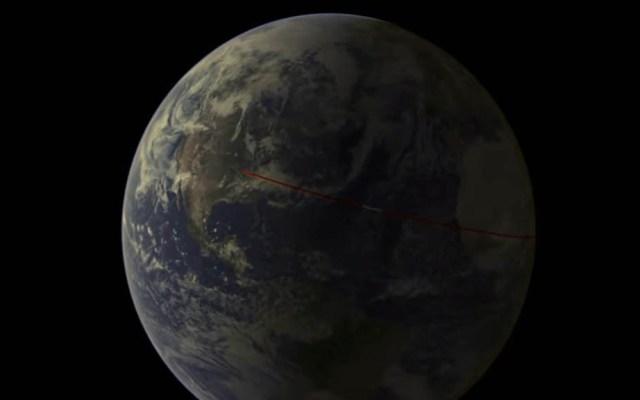 Asteroide iluminará el cielo al cruzar cerca de la Tierra - Trayectoria estimada del asteroide Apophis. Captura de pantalla / NASA