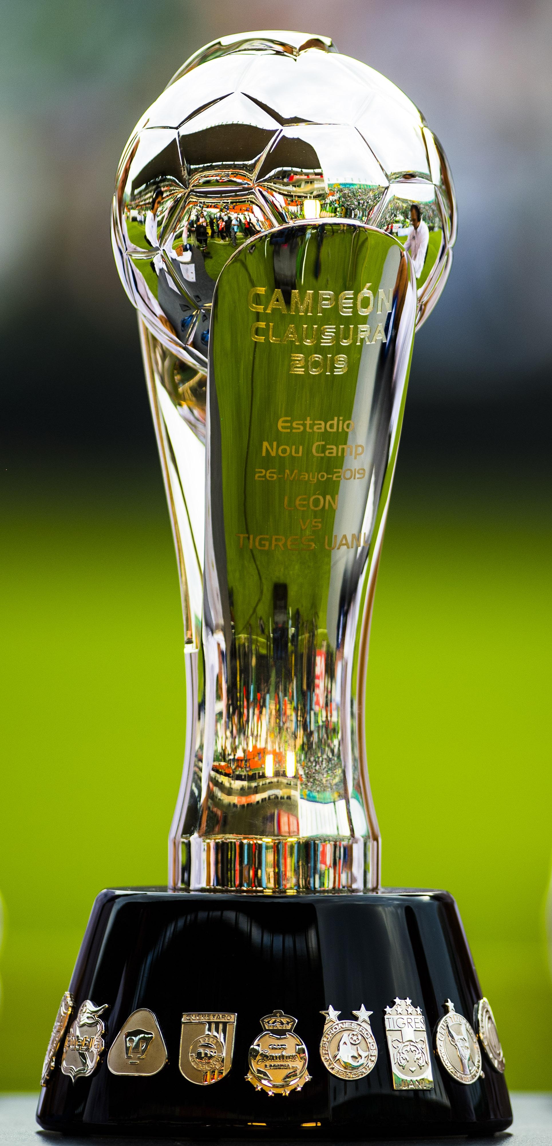 El Trofeo que se llevará el campeón del Clausura 2019. Foto de Mexsport.