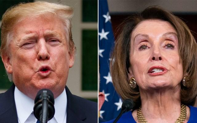 Trump acusa a Pelosi de retrasar el T-MEC por juicio político - trump pelosi