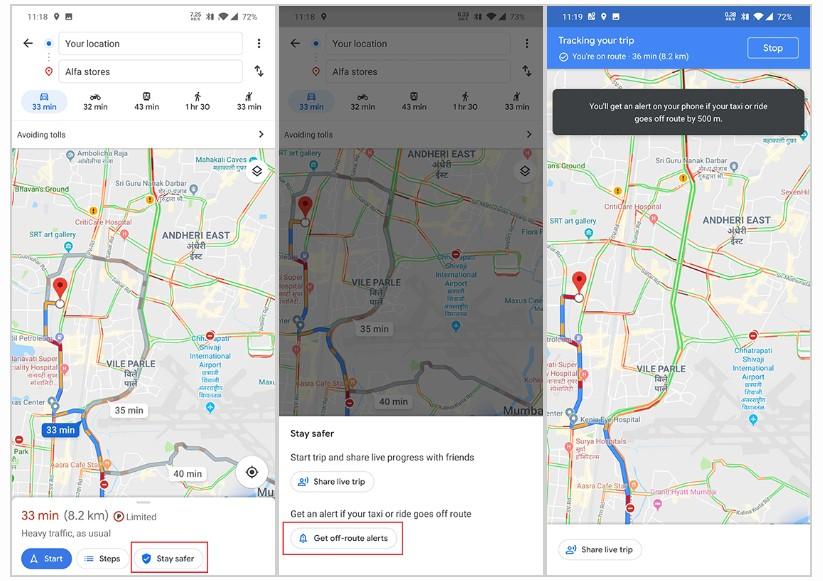 Activar alertas en Google Maps. Foto de XDA Developers