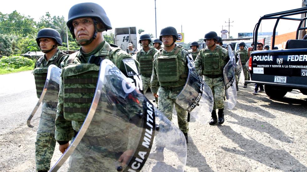 Guardia Nacional inicia formalmente operaciones este domingo - Agentes de la Guardia Nacional. Foto de Notimex