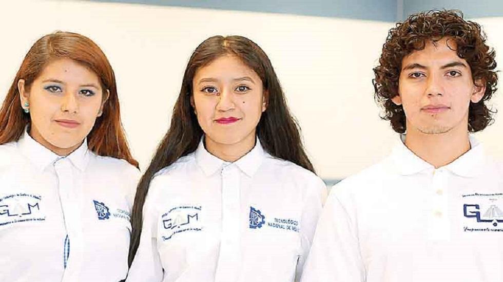 Alumnos creadores de la plantilla. Foto de Excélsior