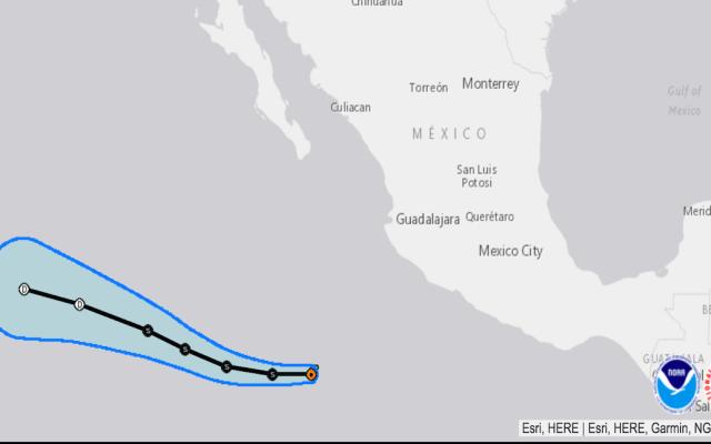 Se forma 'Alvin', primera tormenta tropical del Pacífico - Alvin, la primera tormenta tropical en el Pacífico. Foto de nhc.noaa.gov