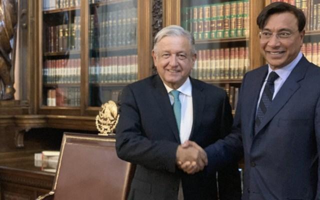 López Obrador se reúne con empresario acerero Lakshmi Mittal - Andrés Manuel López Obrador Lakshmi Mittal