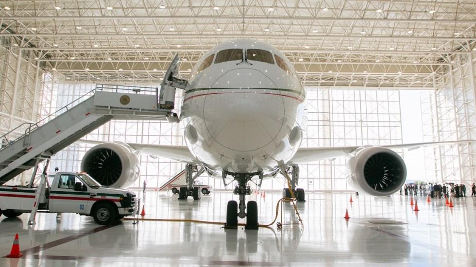Regresa el avión presidencial a México. Gobierno buscará alternativas para su venta - Avión presidencial José María Morelos y Pavón. Foto de Presidencia de la República