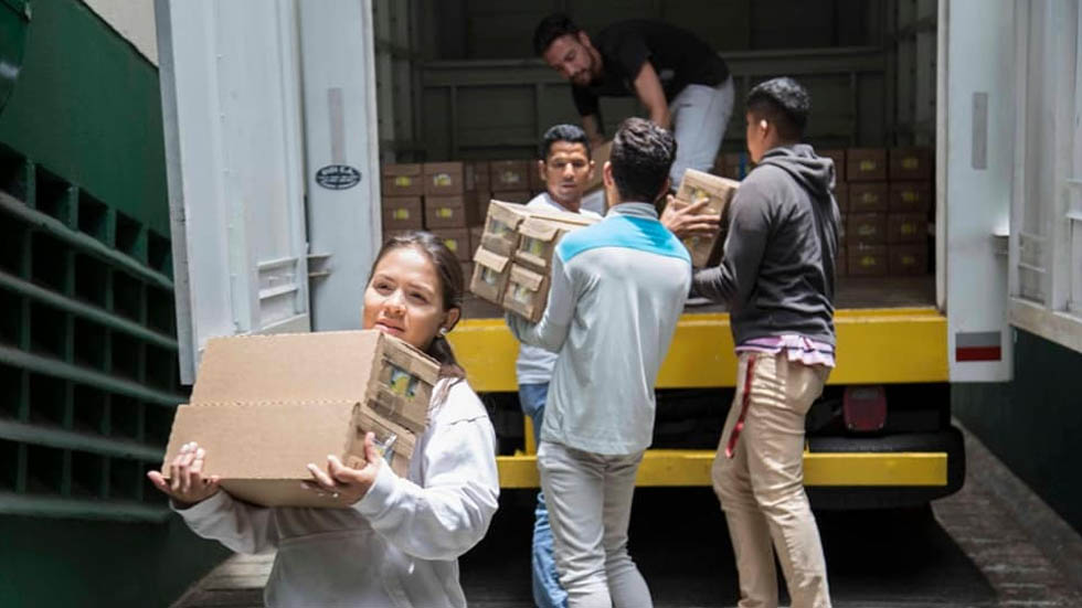 Venezolanos en Colombia reciben 52 toneladas de ayuda - Ayuda Humanitaria Colombia Venezuela