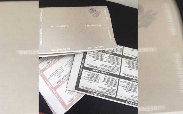 Instalan casilla en Tijuana tras recuperar boletas robadas - Boletas electorales de Baja California. Foto de @ReynaCampagna