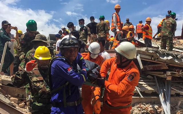 Derrumbe de edificio en Camboya deja al menos siete muertos - camboya