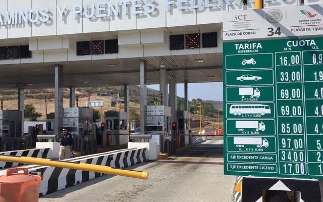 Abren investigación contra ex funcionarios de Capufe - Caseta de Capufe en Tijuana. Foto de Mensaje Político