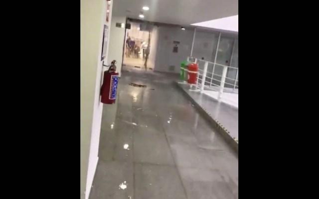 #Video Lluvia se cuela en edificio del CJF - CJF lluvia edificio