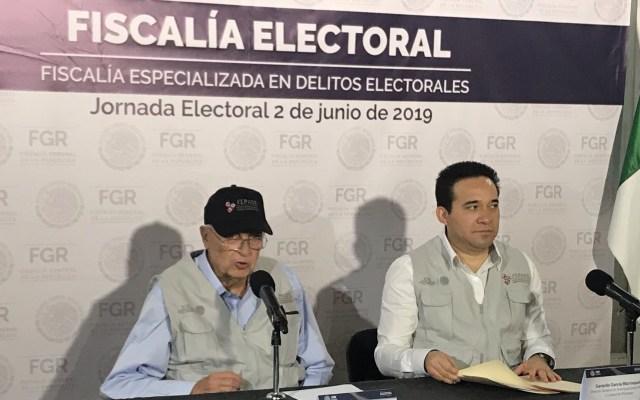 Fiscalía Electoral se mantiene alerta en estados que celebran elecciones - Titular de la Fiscalía Electoral en conferencia de prensa. Foto de @FEPADE_Mex