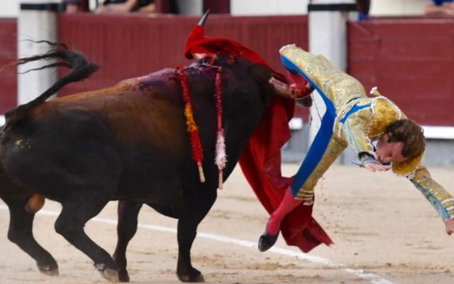 #Video Torero recibe grave cornada en corrida de Feria de San Isidro - Cornada al torero Román. Foto de NTR Toros