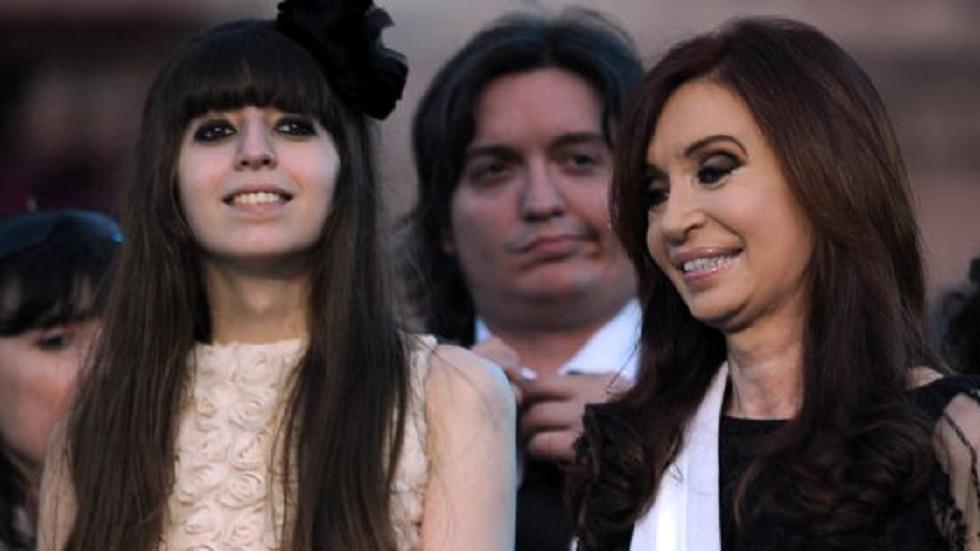Niegan permiso de viaje a Cristina Fernández para visitar a su hija - Cristina y Florencia Kirchner. Foto de AFP / Daniel García / Getty Images