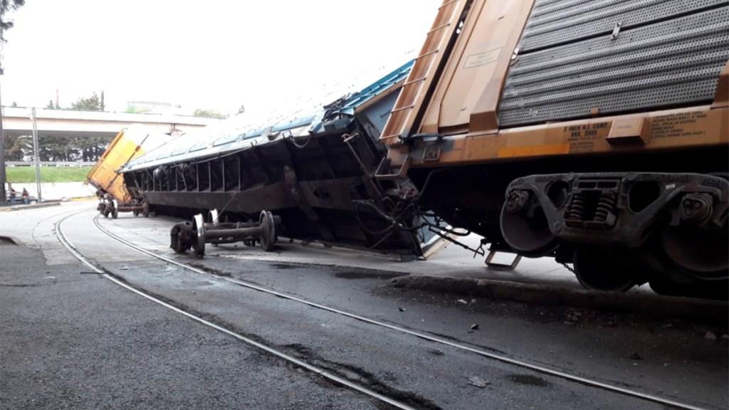 Descarrilan vagones del tren en Toluca - Foto de Hoy Estado