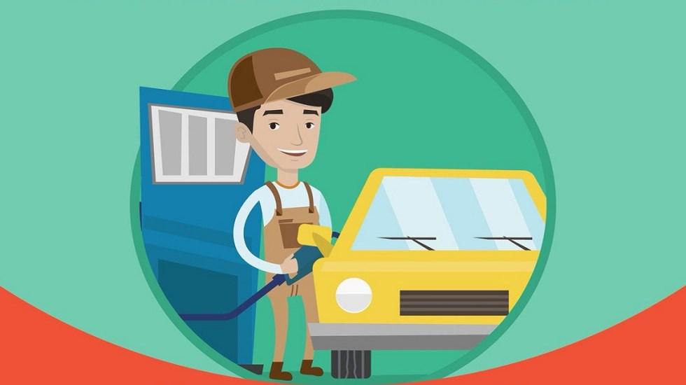 Los precios de las gasolinas, diésel y Gas LP - Despachador de gasolina. Foto de @Profeco