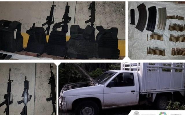 Detienen a cinco menores con armas de fuego en Guerrero - Detienen cinco menores de edad Guerrero armas de fuego