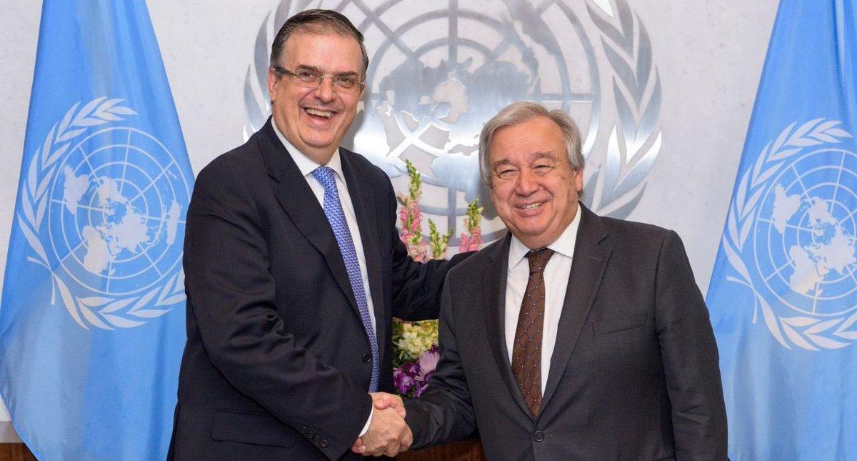 Presenta Ebrard a ONU plan para Centroamérica