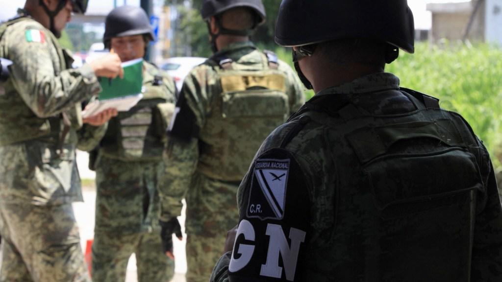 Detienen a cuatro por agresión a la Guardia Nacional en Chiapas - Elementos de la Guardia Nacional. Foto de Notimex