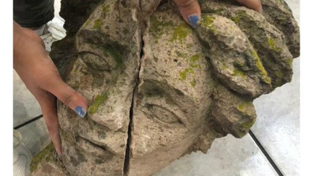 Rayo decapita estatua en Uruapan - estatua uruapan rayo