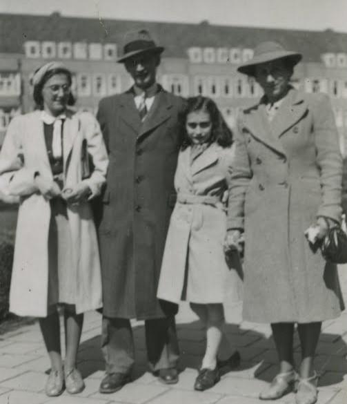 Familia Frank en abril de 1941. Foto de Anne Frank House