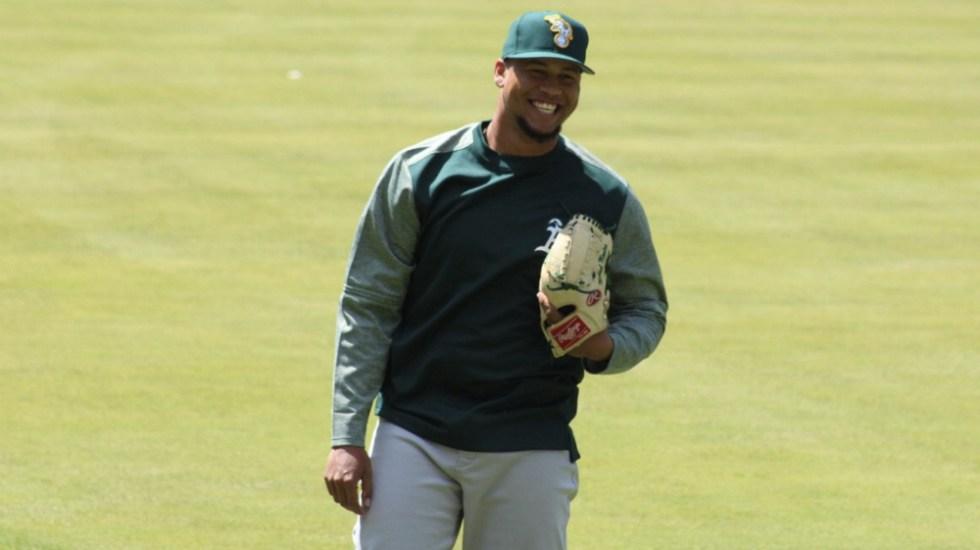 Sanciona MLB al pitcher Frankie Montas con 80 partidos por dopaje - Foto de @frankmontas