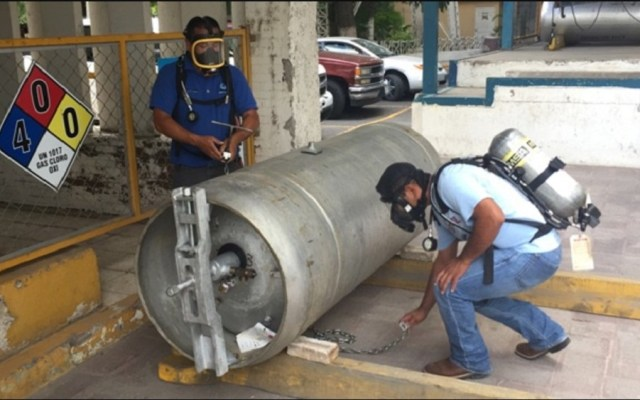 Emiten alerta en seis estados por robo de cilindro con gas cloro - Gas con cloro para potabilizar agua. Foto de iagua.es