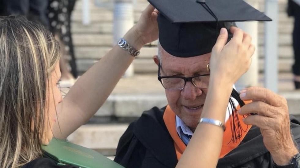 Hombre de 78 años se gradúa como ingeniero industrial en Puerto Rico - Foto de El Nuevo Día