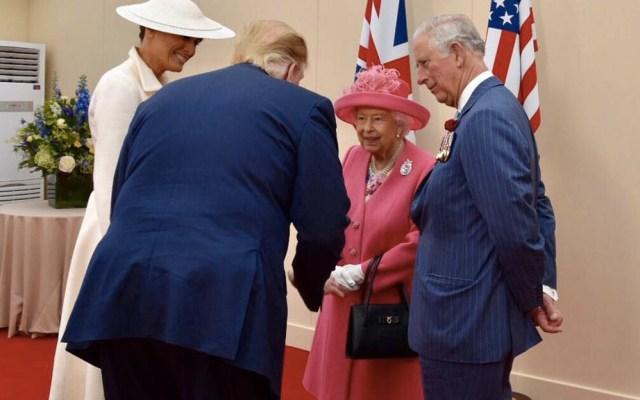 """""""Espero que vuelva a este país pronto"""": reina Isabel II a Trump - Elizabeth II Trump Homenaje Día D Inglaterra Reino Unido 3"""