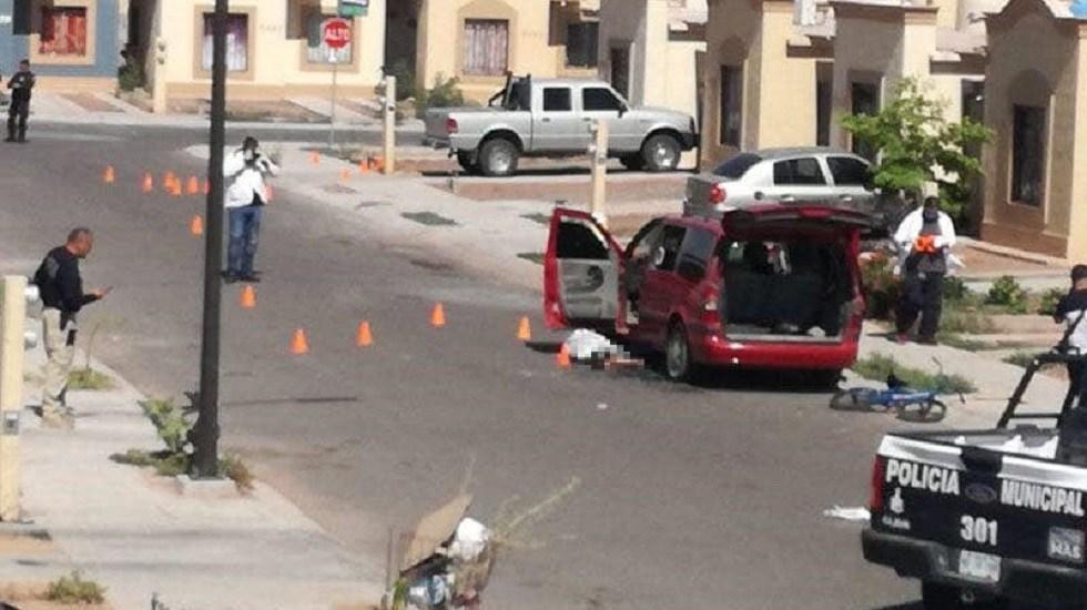 Diez estados alteran el promedio de homicidios en el país: AMLO - Homicidio de padre e hijo en Sonora. Foto de @l4nd3t4