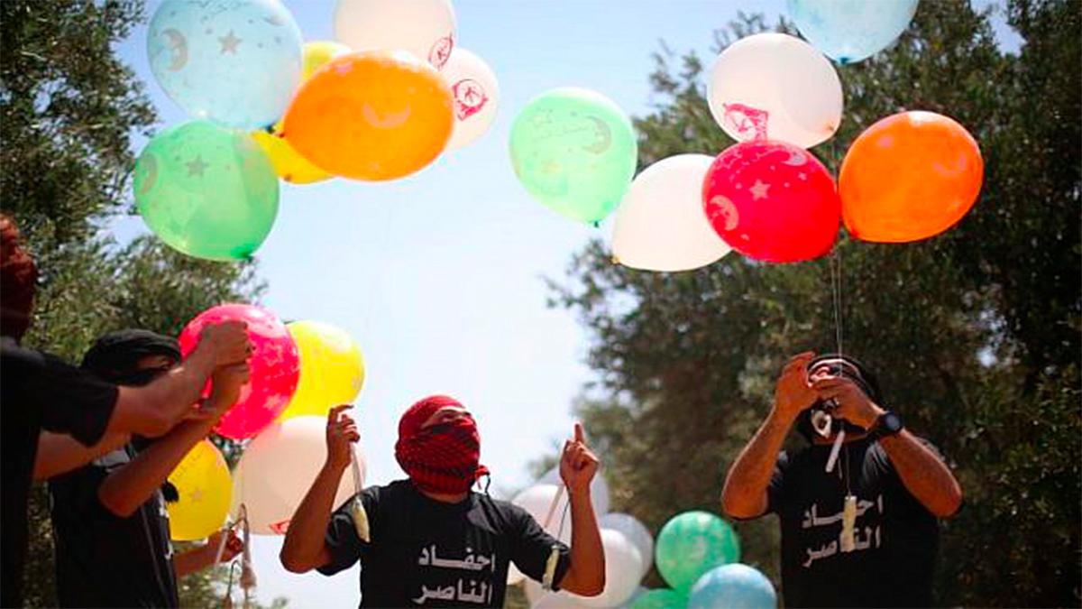Bombardeo israelí contra una posición de Hamas en Gaza