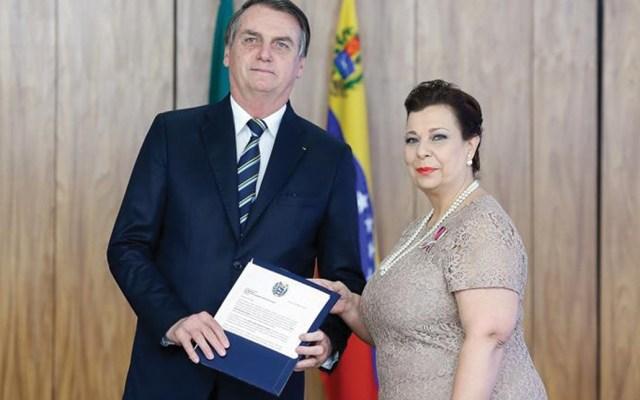 Bolsonaro recibe credenciales de embajadora de Venezuela designada por Guaidó - Foto de Presidencia de Brasil para EFE