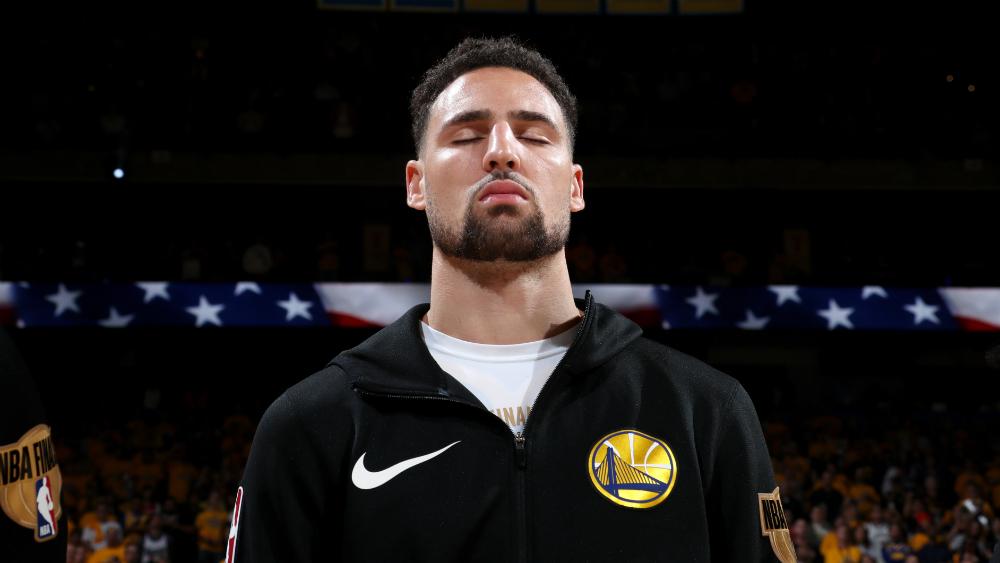 Warriors recuperan a Thompson y Looney para cuarto juego de la final de la NBA - Foto de AFP