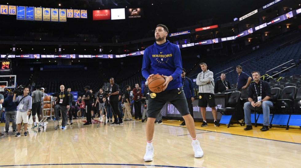 Warriors recuperan a Klay Thompson, pero siguen sin contar con Durant - Foto de AFP