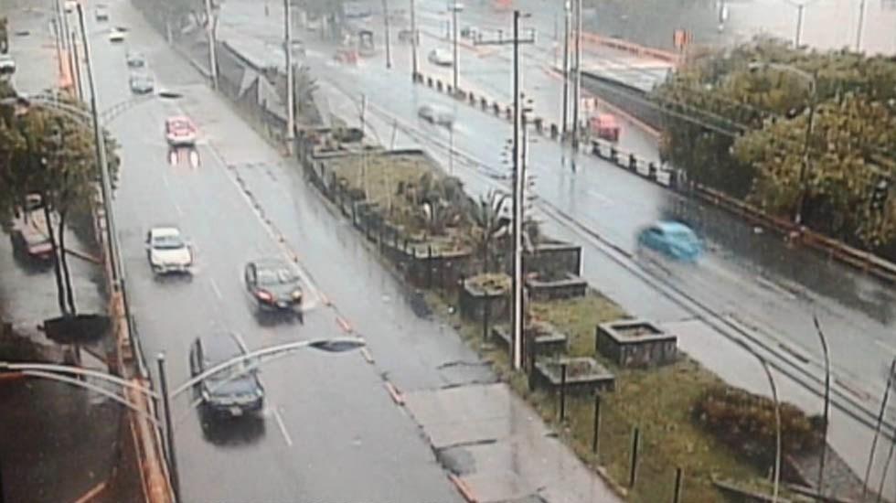 Afectaciones en la Ciudad de México por lluvias - Lluvia tráfico Ciudad de México lluvias afectaciones viales