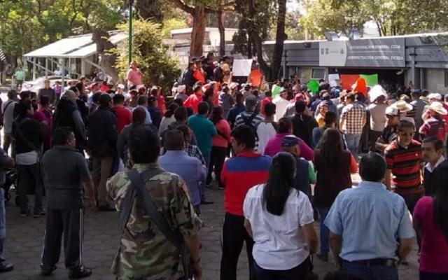 Comerciantes de la Central de Abasto protestan contra la corrupción - Manifestación de comerciantes de la Central de Abasto. Foto de @jcperezsan