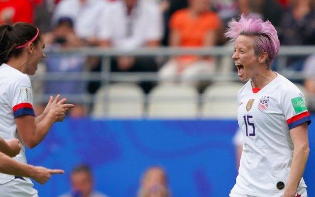 Estados Unidos vence a España y enfrentará a Francia en Mundial Femenil - Megan Rapinoe
