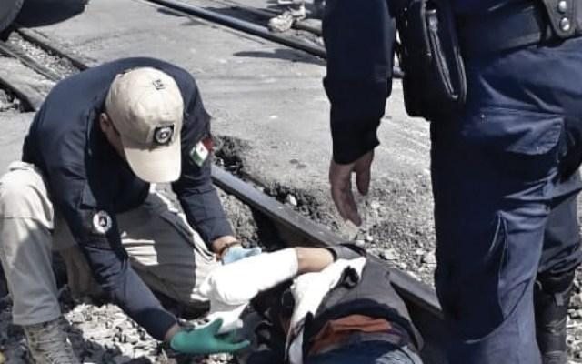 Tren mutila brazo a migrante en Tlaxcala - Foto de Quadratín