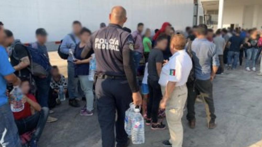 Policía Federal rescata a 160 indocumentados en Veracruz - Foto de @PoliciaFedMx