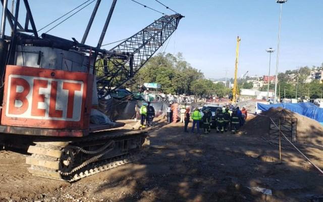 Muere una persona al caer en foso de excavación del Tren México-Toluca - muere persona en foso del tren méxico-toluca