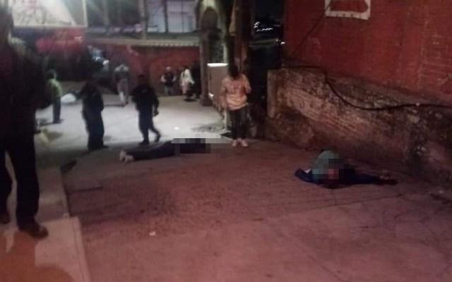 Matan a cuatro junto a iglesia de Naucalpan - Muertos cerca de iglesia en Naucalpan. Foto de @TvNaucalpan